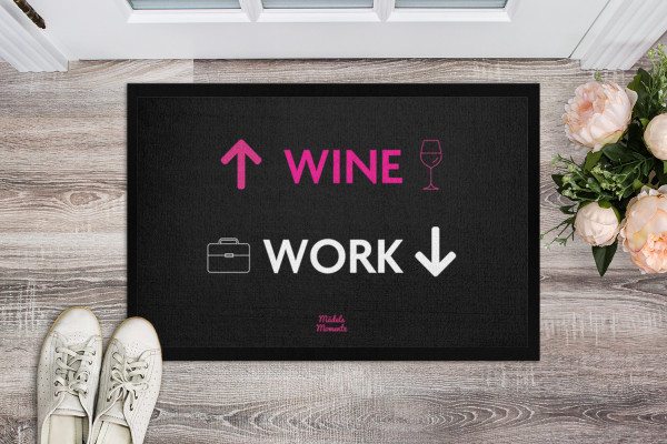 Wine / Work - Fußmatte