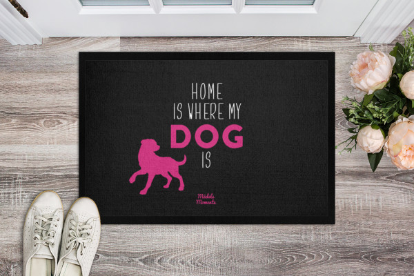 Home is where my dog is - Fußmatte
